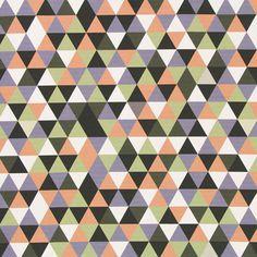 Panama Retro Kąty 3 - Bawełna - mieszanka kolorów