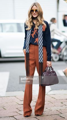 Olivia Palermo seen during Milan Fashion Week Spring/Summer 2017 on September… More