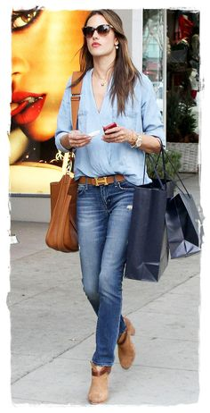 Alessandra Ambrosio Expertly Mixes High-Low Fashion