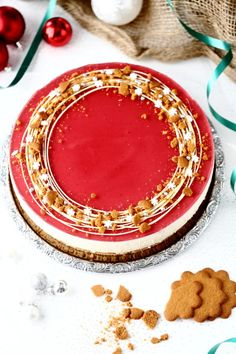 piparin ja glögin makuinen juustokakku Christmas Baking, Christmas Home, Xmas, Sweet Bakery, Cheesecakes, Panna Cotta, Waffles, Diy And Crafts, Food Porn