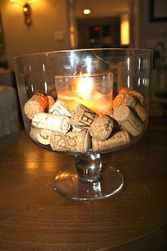 Easy Wine Cork Centerpiece, Easy Way to Show you're an alcoholic.