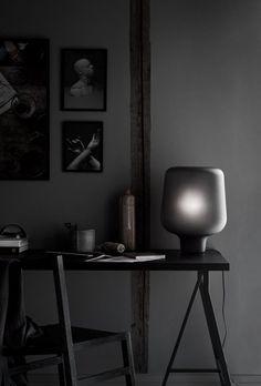 home office in dark hues... Trendenser -