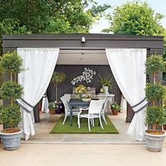 Creative Ideas for Outdoor Fabric: Garden Cabana