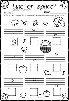 This set of 20 Music worksheets Autumn themed is designed to help your students practice identifying whether a pitch is on a line or in a space and practice high/low pitches. Art Lessons Elementary, Elementary Music, Music Lessons, Piano Lessons, Music Theory Worksheets, Piano Teaching, Teaching Art, Space Music, Violin Sheet Music