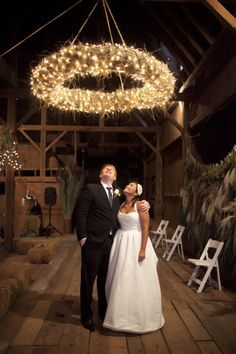 this straw wedding wreath/chandelier is AMAZING!! doing it.