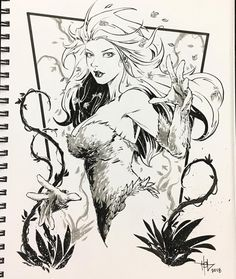 Poison Ivy by Creees HyunSung Lee #poisonivy #ivy #gothamsirens #girl #plants #art #drawing #artist…