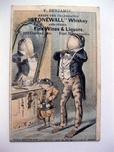 1880 Victorian Trade Card Liquor Store in Minneapolis Frogs Dressing in Mirror Vintage Advertisements, Vintage Ads, Wine And Liquor, Liquor Store, Frog Illustration, Frog Art, Frog And Toad, Vintage Paper, Pet Birds