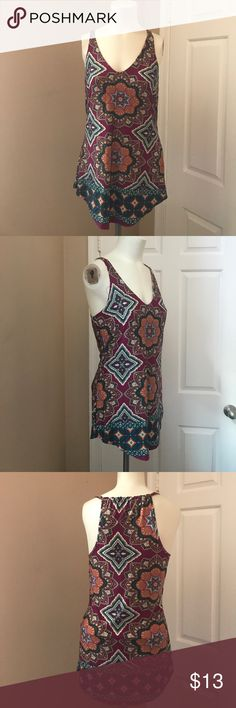 Philosophy of Paek Tank Gently worn, great condition. Light weight tank. Vibrant color scheme. Designer in L.A. Brand for exposure Anthropologie Tops Tank Tops