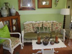 My own verandah at home with painted ball & claw furniture