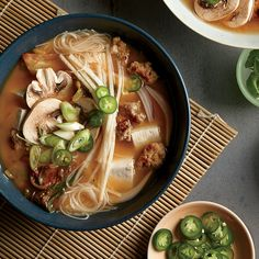 Bowls with Tofu, Pork, and Kimchi | Little bits of crisped pork belly ...