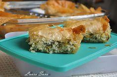 Placinta de post cu ceapa verde si orez - Retete culinare cu Laura Sava | Retete culinare cu Laura Sava