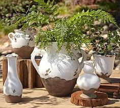 Vases, Glass Vases & Decorative Vases | Pottery Barn Small double handle Urn
