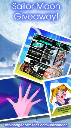 Enter for a chance to win a signed print from Sailor Moon voice actor Linda Ballantyne and an Espionage Cosmetics bundle of goodies! Contest ends 11/29. Must be a minimum of 18 years of age to enter: espionagecosmetics.com/sailormoon   #NerdMisfitGiveaway