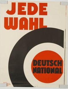 Jede Wahl - DEUTSCH-NATIONAL um 1930