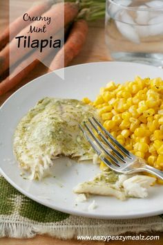 Creamy Mint Tilapia: A fun way to top tilapia for full flavor and a quick meal.  - Eazy Peazy Mealz