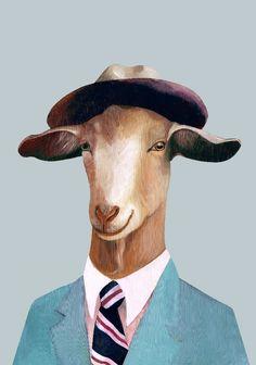 Mr Goat by Animal Crew on INPRNT