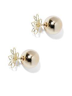 Daisy Front/Back Earring