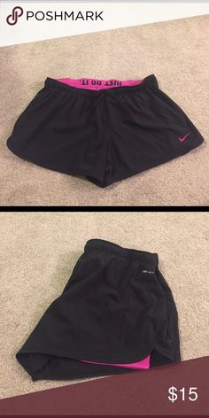 Nike Dri-Fit Shorts Built-in spandex shorts underneath outer layer Nike Shorts