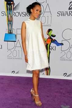 Love this white dress on Kerry Washington