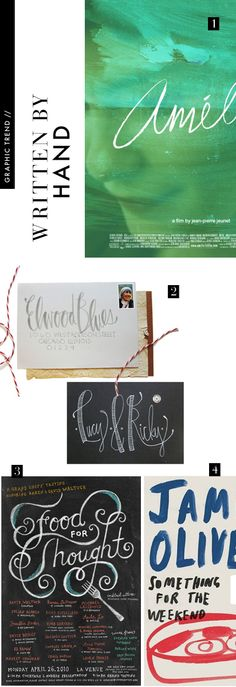 """1. Katrina Regino  2. Sarah Watson Illustration (via Brooklyn Bride)  3. Mucca  4. Jamie Oliver """"Something for the Weekend"""" at The Book Cover Archive"""