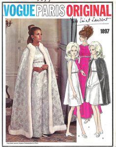 UNCUT Vintage 1960s Vogue Paris Original 1897 YSL by PinkDoll, $25.00 #60s #retro #vintage