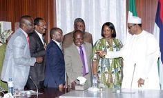 President Muhammadu Buhari meets with PENCOM officials - http://www.nollywoodfreaks.com/president-muhammadu-buhari-meets-with-pencom-officials/