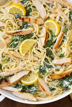 Lemon Ricotta Parmesan Pasta with Spinach and Grilled Chicken   Cooking Class
