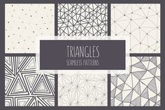 Triangles. Seamless Patterns. Set 1