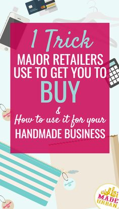 More Handmade with this 1 Trick Retailers Use An easy way to sell more handmade products at a craft show or online through your shopAn easy way to sell more handmade products at a craft show or online through your shop Business Help, Etsy Business, Craft Business, Creative Business, Business Ideas, Online Business, Business Sales, Marketing Website, Craft Supplies Online