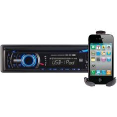 Dual Single-Din In-dash Cd Receiver With Ipod Control Remote Included Portable