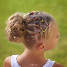Bright wanted to keep in the elastics with a messy bun for summer dance! I love second day hair!  #twinshair #hairinspiration #cutegirlshairstyles #dancehair #sportshair #summerhair