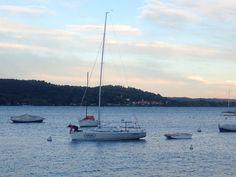 La sua grande passione#sailboat #vela #sail #sailing #allavoro #sistemare #passione #cuore #lago #lake #lagomaggiore #campoboe #tramonto #sunset #instadaily #instagram #instapic #instasail #instasailing #maggio #luci #nuvole #cielo #sky #rosa #freschino by milladb