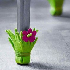 table socks softy lovely green flower smart idea