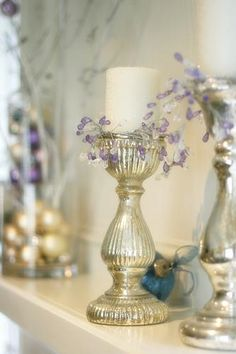 Lavender and silver for your romantic decor
