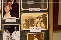Love this idea of showing old family photos at the wedding reception... This is from a rustic wedding at St. Paul's School in Concord, NH in October!  #spswedding #vintagephotos #dreamlovephotography #nhwedding