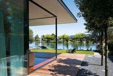 Das Architekturkonzept resultiert aus der traumhaften Lage an einer Bucht des Zürichsees. | Meier Architekten © Hannes Henz
