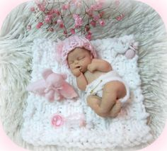 OOAK Polymer Clay Baby 4 with Blanket Bottle Hat by LaurelArts