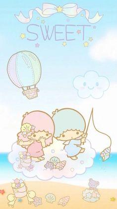 Sanrio Little Twin Stars ❤ Little Twin Stars My Melody Wallpaper, Sanrio Wallpaper, Star Wallpaper, Kawaii Wallpaper, Disney Wallpaper, Wallpaper Backgrounds, Little Twin Stars, Little Star, Sanrio Characters