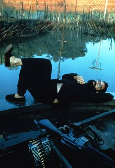 Behind the scenes photo of Francis Ford Coppola from Apocalypse Now