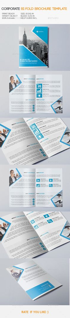 Corporate Bi-Fold Brochure Template. Download: http://graphicriver.net/item/corporate-bifold-brochure/10939257?ref=ksioks
