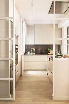 Home Interior Modern .Home Interior Modern Kitchen Room Design, Cozy Kitchen, Scandinavian Kitchen, Interior Design Kitchen, Kitchen Decor, Interior Modern, Grey Kitchens, Home Kitchens, Kitchen Sliding Doors