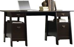 Shop Staples® for Sauder Stockbridge Executive Trestle Desk and enjoy everyday low prices, and get everything you need for a home office or business. Get free shipping on orders of $45 or more and earn Air Miles® REWARD MILES®.