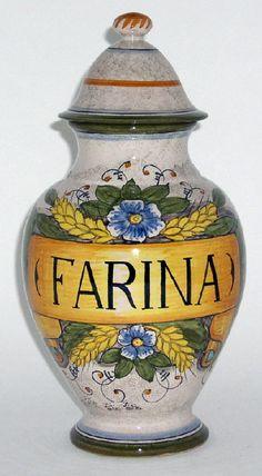 italian pottery | Italian Ceramics Rustica Canisters FARINA = FLOUR