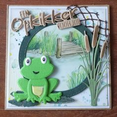 Made by Nicolette: Opkikkeren Big Stuffed Animal, Dinosaur Stuffed Animal, Diy And Crafts, Arts And Crafts, Paper Crafts, Rose Images, Die Cut Cards, Marianne Design, Masculine Cards