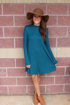 Long sleeve swing dress-more colors