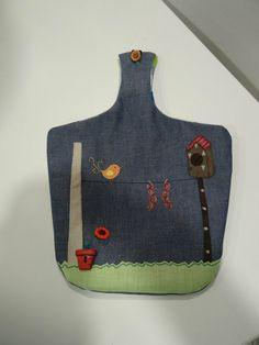 bolsa para las pinzas  #cocina #patchwork #manualidades #hechoamano #pinzas www.unparelldecoses.com