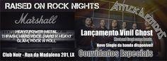 """Lançamento do vinil """"Ghost"""" de Attick Demons Sábado 21 de Fevereiro  Hard Rock, Glam Rock, 80s & 90s Rock, Heavy Metal,Thrash Host: Old School (Tuca) Event: https://www.facebook.com/events/1529343043992856/ Aberto das 23 às 4 Entrada 2 Noir"""