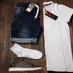 Outfit vd week | #outfit #polo #wit #fashion #italian 🇮🇹️ www.italian-style.nl 🇮🇹️ - Vragen? bel 0527-240817 of mail naar info@italian-style.nl - Snelle levering  - Ruime collectie - Webshop keurmerk - Scherpe prijzen