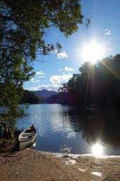 A beautiful day at Bells Bay, Toonumbar Dam, near Kyogle, New South Wales, Australia