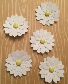 Handmade Small Paper Flowers - 5 Pack by cemFLORAL on Etsy
